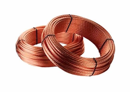 cable desnudo de cobre